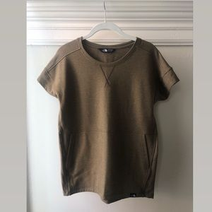 NORTH FACE olive green tee-shirt